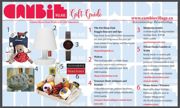Cambie Village Gift Guide