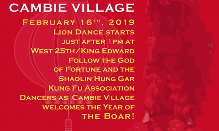 Celebrate Chinese New Year in Cambie Village-Feb 16