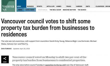 Vancouver council votes to shift some property tax burden from businesses to residences